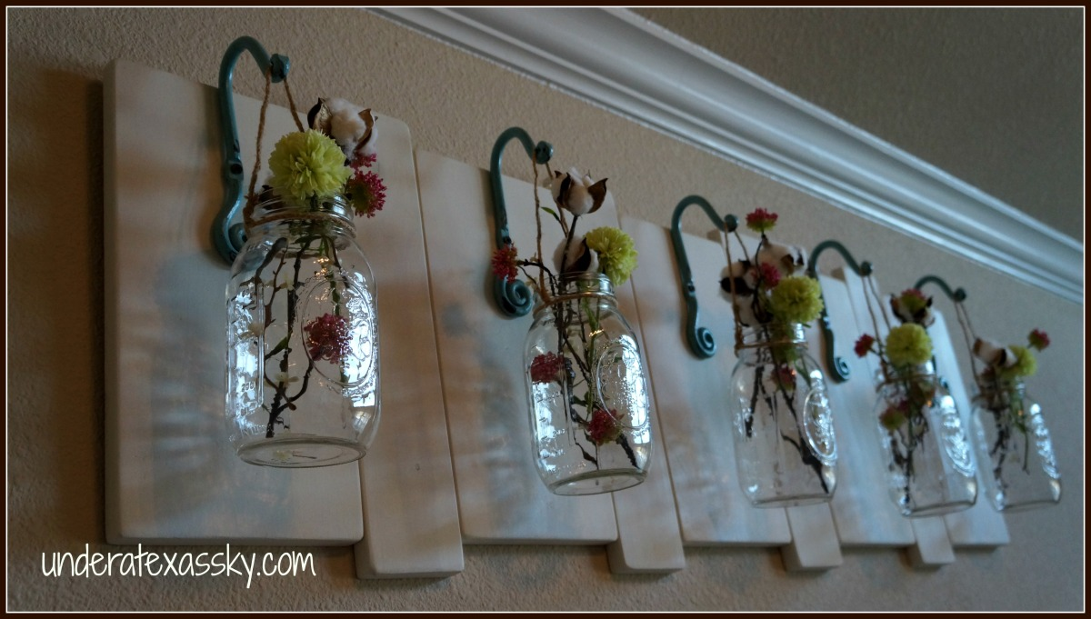 Wall Decor With Mason Jars : Creatively crafty link party al things beautiful
